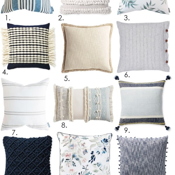 Grab the sources to the best spring pillows for the season! #ABlissfulNest #springdecor #springideas