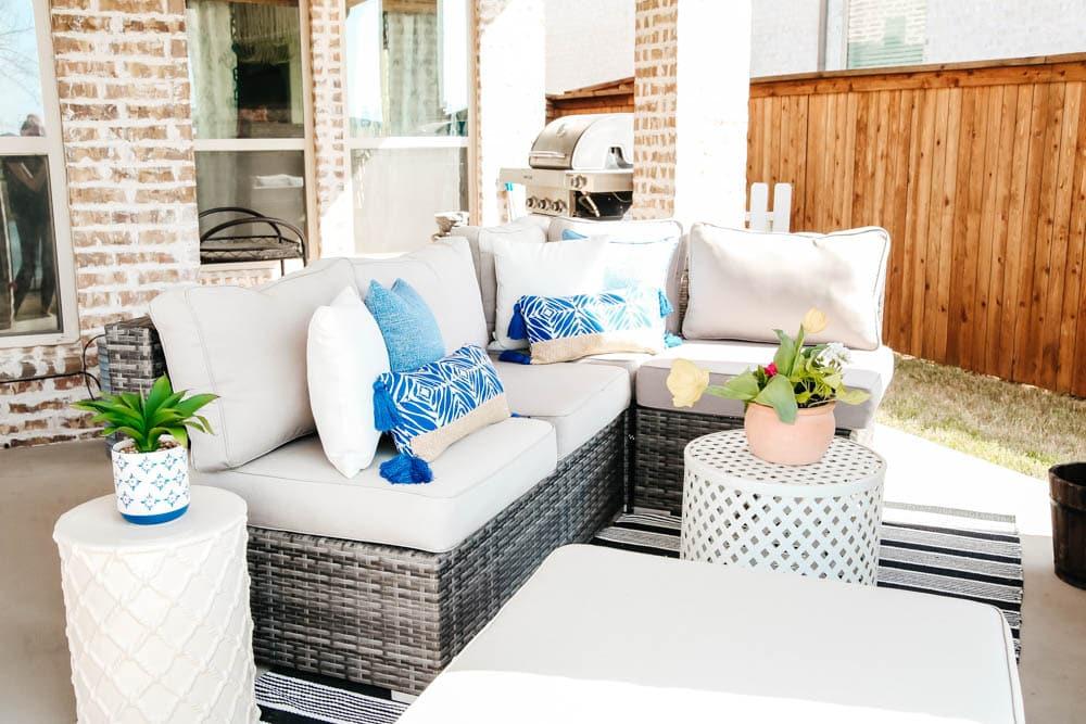 budget friendly spring patio updates