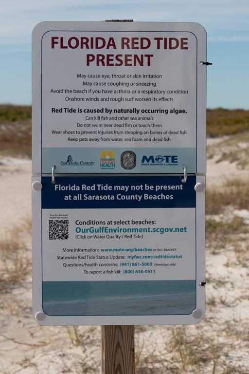 Red Tide Warnung