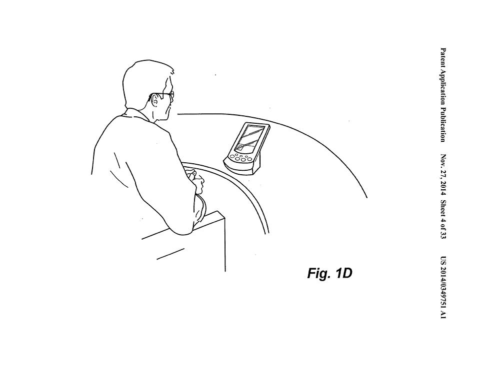 Mostrando o uso em um smartphone