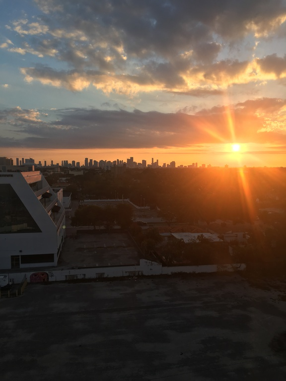 Sonnenaufgang über Miami