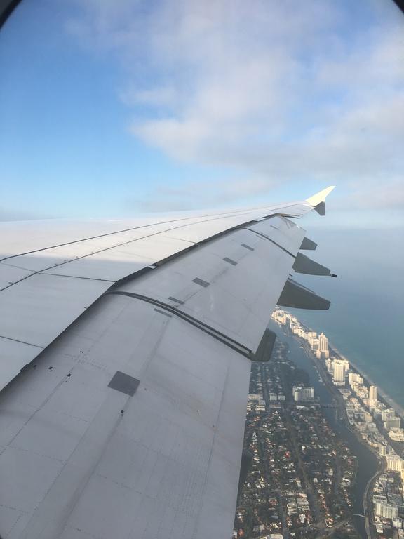 Landeanflug über Miami Beach