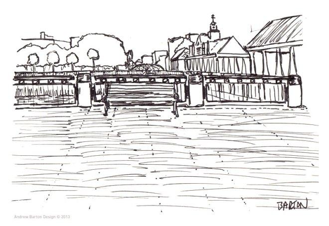 waterfront park charleston sketch