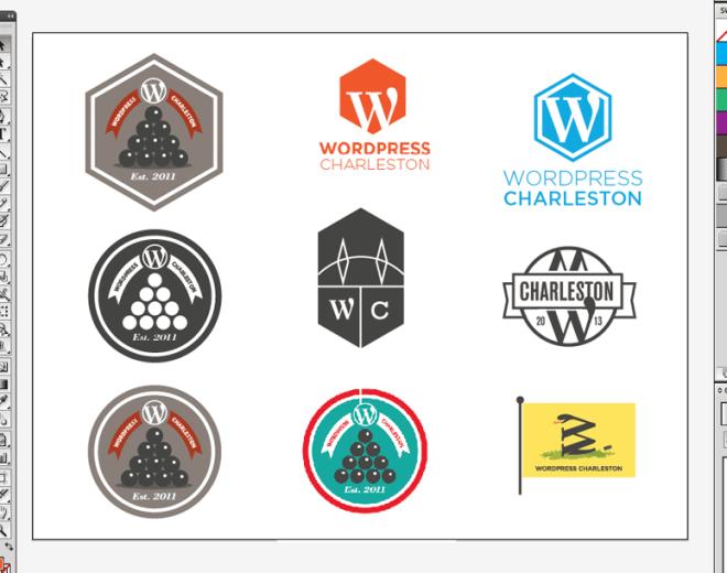 wordpress charleston logo design