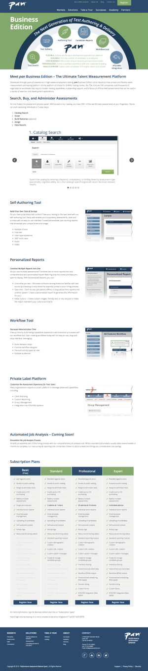 web design infographic and pricing table