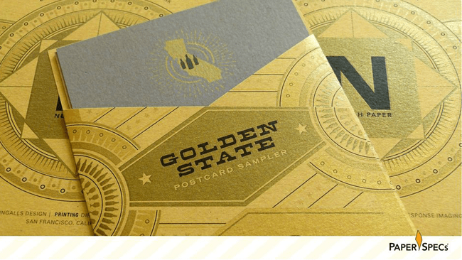 gold ink brochure
