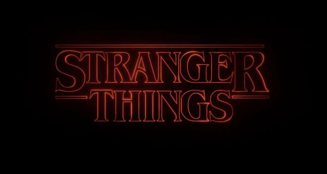 stranger things logo title