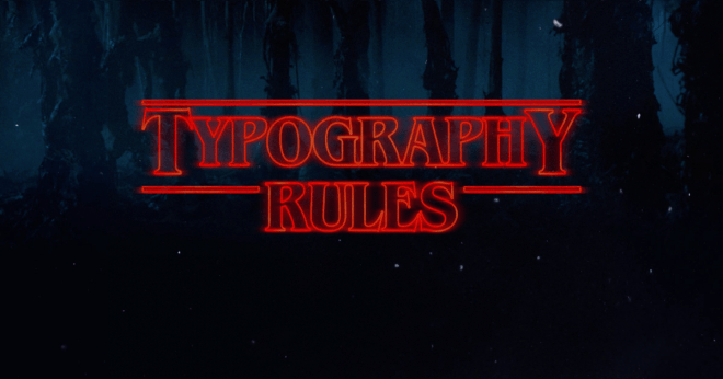 typography rules