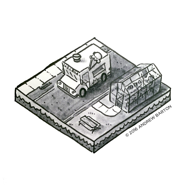 isometric icecream truck
