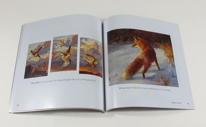 interior spread wtih fox artwork