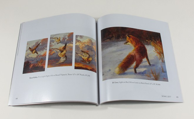 interior spread wtih fox artwork
