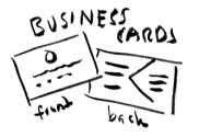 business cards hand sketch
