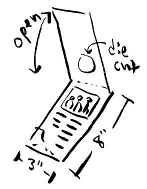 opened brochure hand sketch