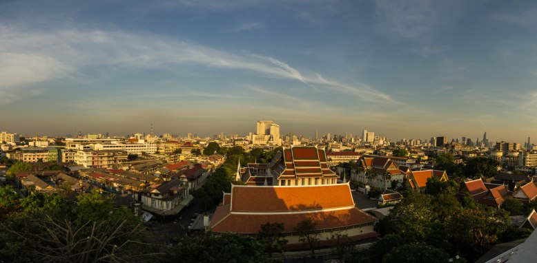 Panorama view towards the east of Bangkok.