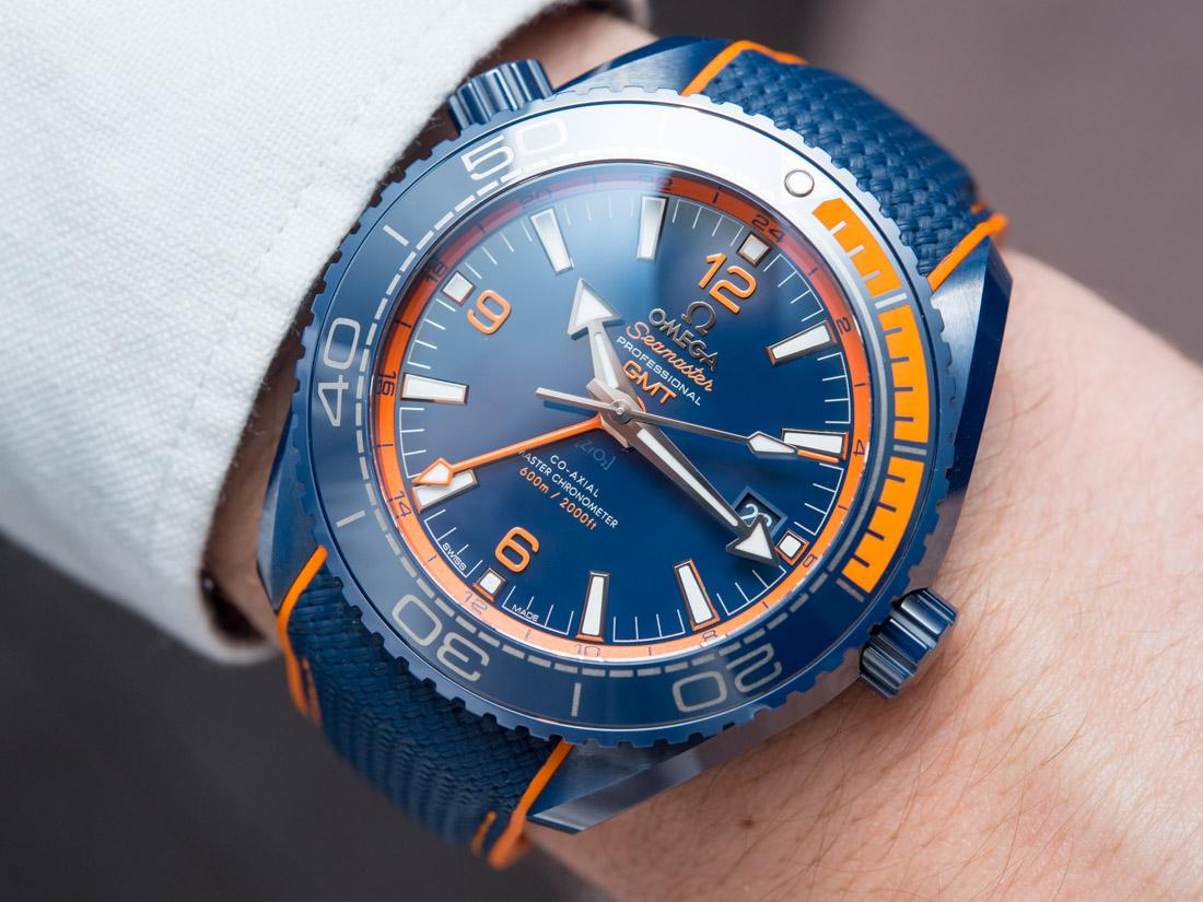 Omega Seamaster Planet Ocean Big Blue Ceramic Gmt Watch
