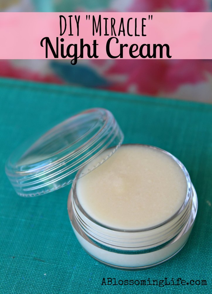 DIY Miracle Night Cream in a jar