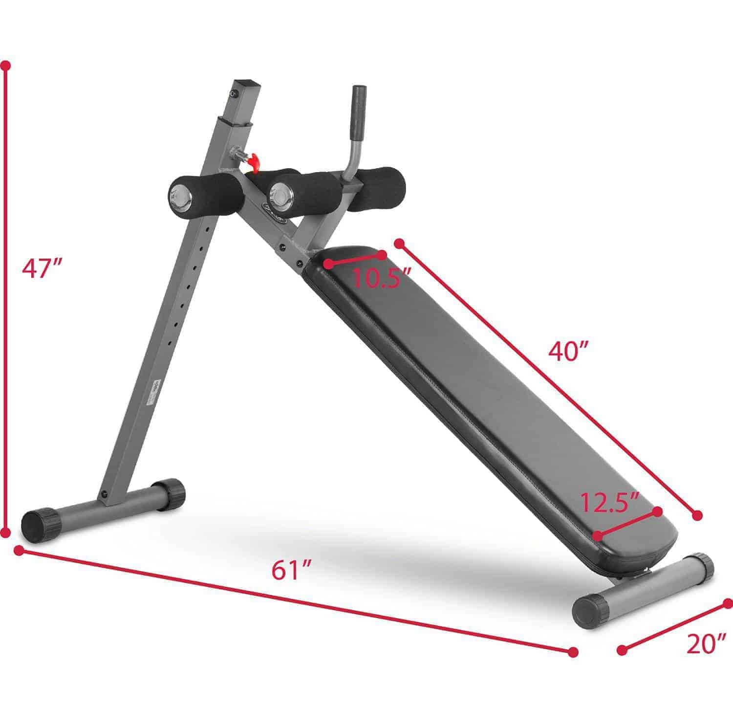 Xmark 12 Position Ergonomic Adjustable Decline Ab Bench
