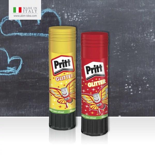 PRITT COLLA GIALLA&ROSSA GLITTER