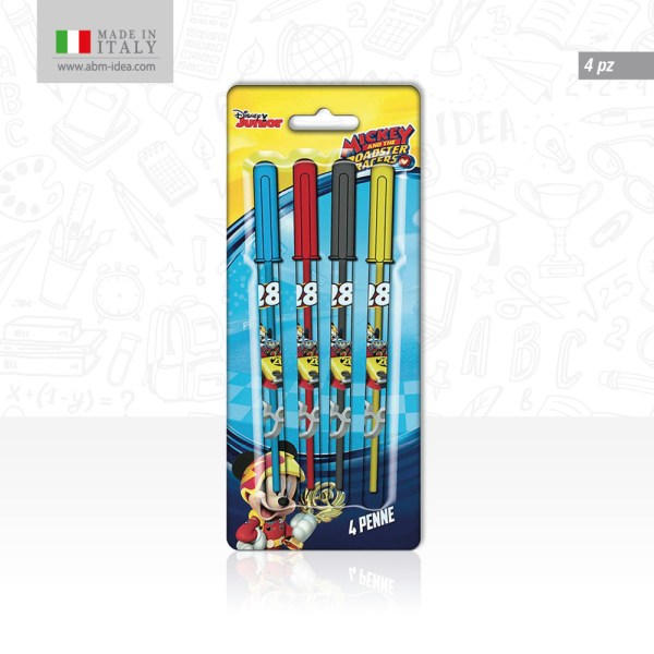 PENNE COLORATE 4 PZ MICKEY