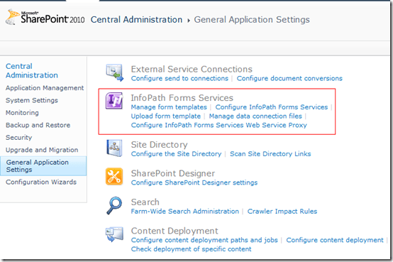 Installing InfoPath Forms Services - SharePoint 2010 (3/3)