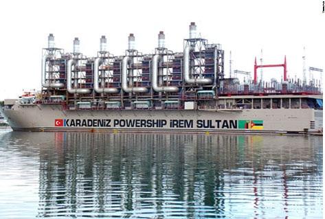 Navio MV Karadeniz Powership Irem Sultan