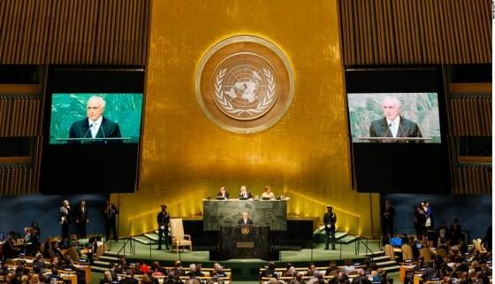 Presidente Michel Temer na ONU