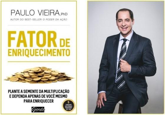Paulo Vieira lança no DF o Livro Fator de Enriquecimento