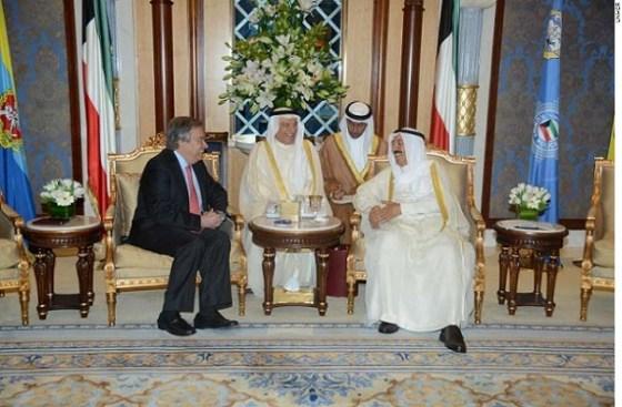Commissioner António Guterres meets His Highness Sheikh Sabah Al-Ahmed Al-Jaber Al-Sabah