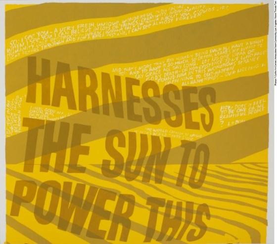 Corita Kent - Harness The Sun, Silkscreen Print on Paper