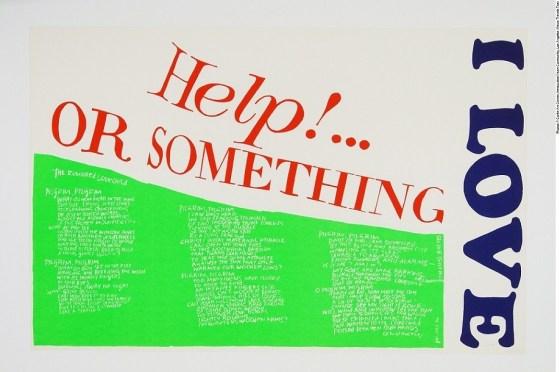 Corita Kent - Help or Something, Silkscreen Print on Paper