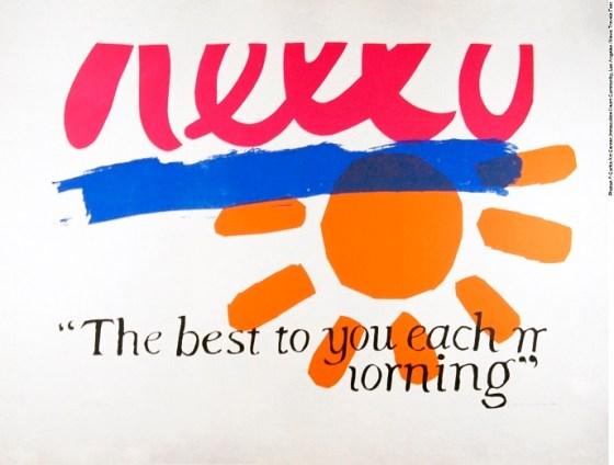 Corita Kent - The Best to You Each Morning, 1964, Silkscreen Print on Pellon