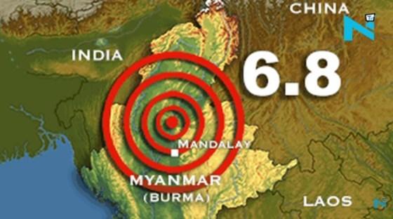 Earthquake in Myanmar