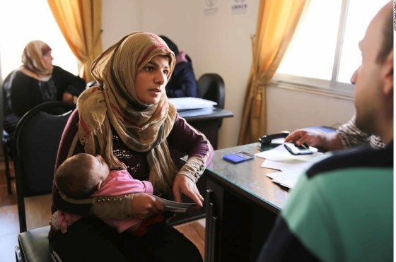 Samira visits one of UNHCR's community centers in Aleppo