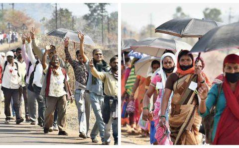 गणतंत्र दिवस पर हजारों किसानों ने मुंबई तक मार्च निकाला