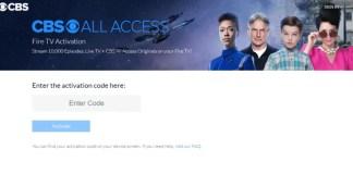 Cbs.Com Tv Firetv Activation Code