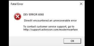 How To Fix COD Warzone Dev Error 6068