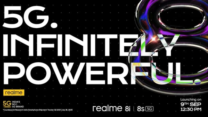 Realme 8s and Realme 8i phones will be launched on September 9