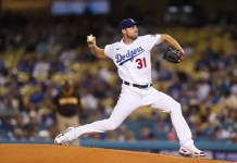 Max Scherzer will start Game 3 for the Los Angeles Dodgers against the San Francisco Giants on Monday.Allen J. Schaben Los Angeles Times via Getty Images