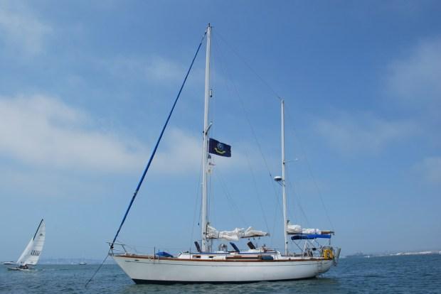Astraea lying at anchor