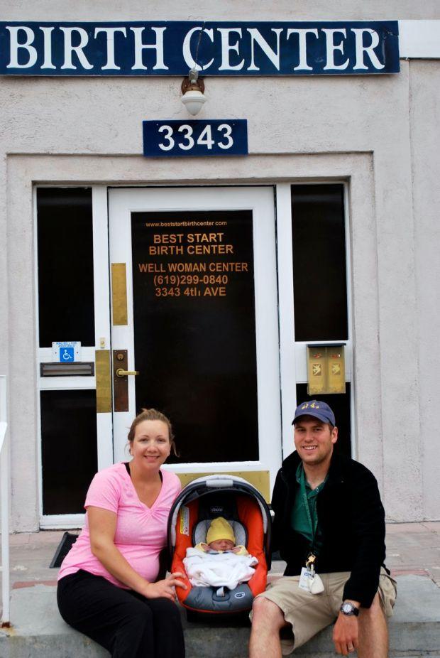 The new family leaving Best Start Birth Center