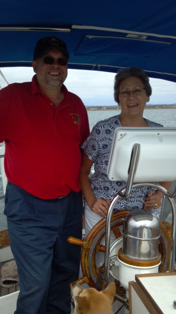 Mom and Dad at the helm