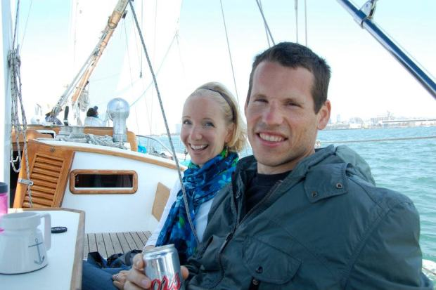 Nicole and Karl enjoyed a relaxing sail up the bay