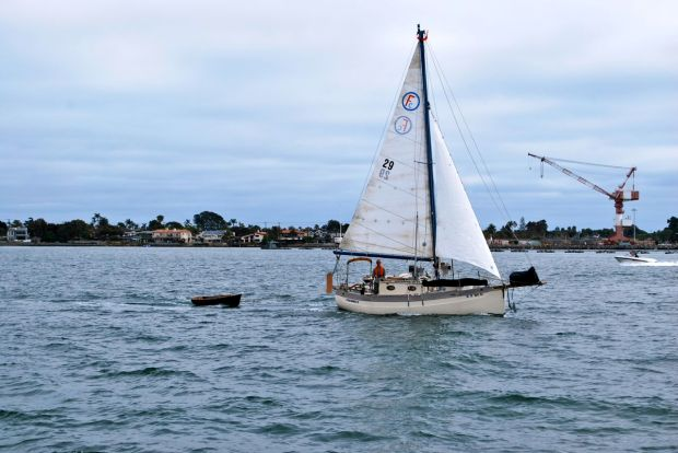 Sailing in company with Coconutz to Point Loma Marina