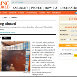 Sully's Stateroom featured on page 4 of Decorating Aboard on Cruising World