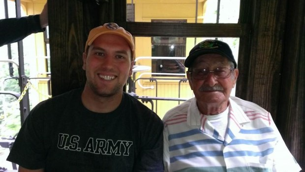 Riding the train with my Grandpa, Rodger Ness