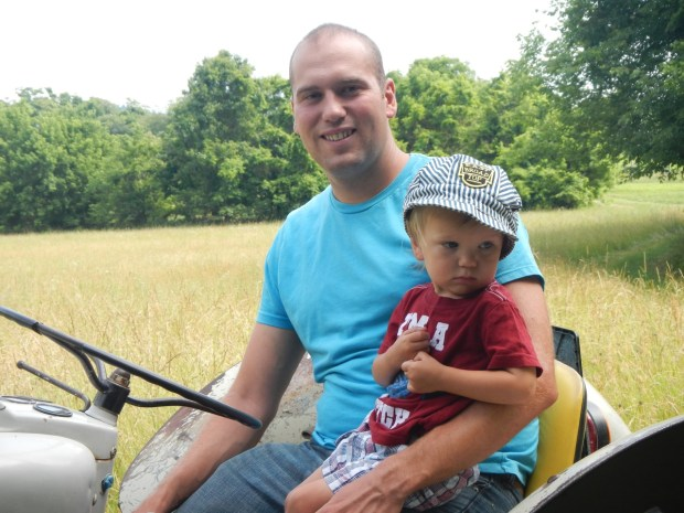 Then we rode Karl's new old tractor at the Vineyard at Frogeye