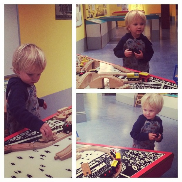 We visited the Heinz History Center. Sully's favorite part was the train set in the kids portion of the museum.