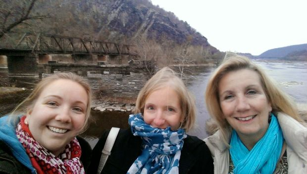 Chilly down by the river in Harpers Ferry, WV