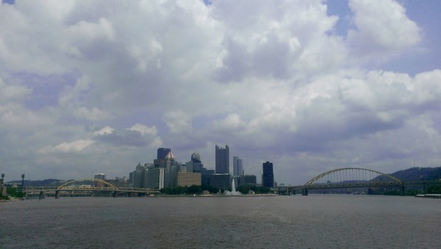 The view of Point State Park and downtown