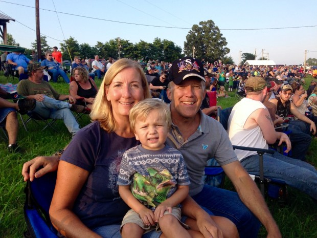 At the Madison tractor pull with Tammy and Derald